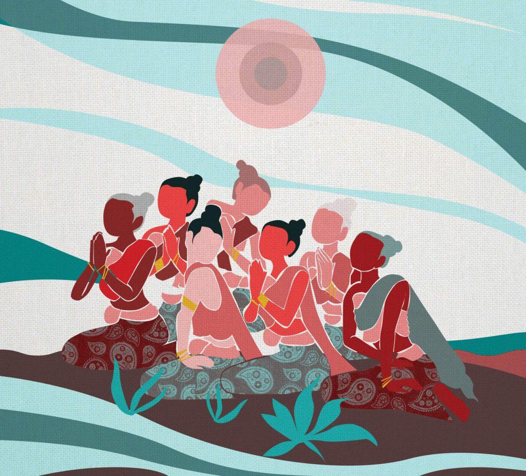 mulheres budistas